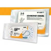 Етібонд Ексел 2/0 білий і зелений W10B77 2/0 75см тефл6х3х1.5мм2кол-ріж(тап)25мм1/2к