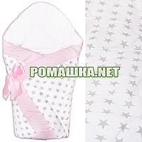Демисезонный конверт-плед на выписку верх, подкладка 100% хлопок утеплитель холлофайбер 90х90 2910ДМ Белый 1