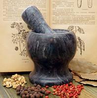 Ступка мраморная чёрная (10х10х10 см)