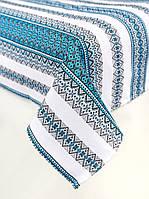 Скатерть с салфетками вышитая голубая