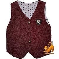 """Классический детский жилет """"Wogi Fashion"""" ,  для мальчиков (рост 56-62-68 см)"""