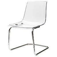 TOBIAS Krzesło, przezroczysty, chrom