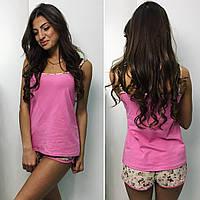 Пижама женская майка и шортики ,ткань вискоза и кружево, 4 расцветки,супер качество вч № 2919
