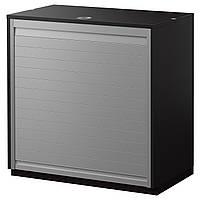 GALANT Шкаф с дверью-шторой, черно-коричневый