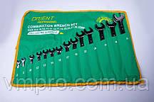Набор ключей Orient (рожково-накидных) Cr-V хром, 8 шт.(8-19 мм) в брезентовом чехле