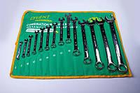 Набор ключей Orient (рожково-накидных) Cr-V хром, 14 шт.(6-32 мм) в брезентовом чехле