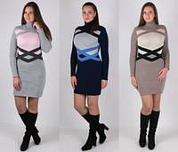 Красивое зимнее женское платье