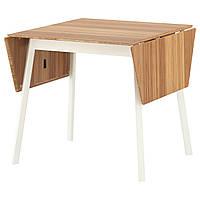 IKEA PS 2012 Стол c откидными полами, бамбук, белый