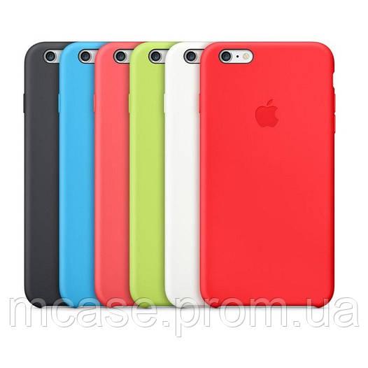 Силиконовая Цветная Накладка для iPhone 6/6s/Plus Чехол Бампер Копия Apple