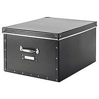 FJÄLLA Коробка с крышкой, темно-серый