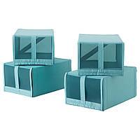 SKUBB Коробка для обуви, светло-голубой