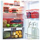 PRUTA Контейнер на продукты питания, 17 шт., прозрачный, оранжевый 802.515.51, фото 2