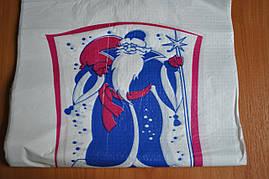 Пакет полиэтиленовый майка Дед Мороз Зима №4  36/9x58