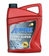 Моторное масло ALPINE 10W40 Turbo Super 5L полусинтетика ( CI-4 / SL , MB-228.3 , B4 , B3 , A3 )