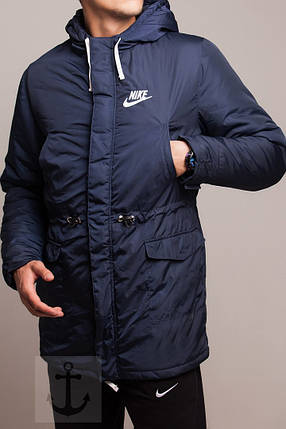 0cecbd31 Мужская зимняя парка Nike темно-синяя топ реплика: продажа, цена в ...