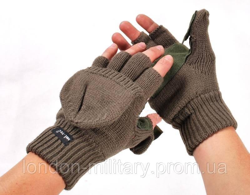 перчатки варежки вязаные Thinsulate хаки Mil Tec 12545001 цена