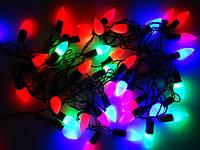 Светодиодная Гирлянда Капельки Новогодняя на Елку 1,3 см 40 LED Мульти