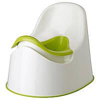 Горщик дитячий LOCKIG , зелений білий, зелений, IKEA, 601.931.28