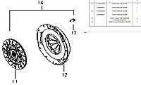 Корзина сцепления Geely CK1/CK2/ LC (1.3L) GLOBER