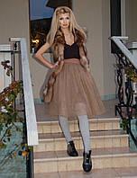 Фатиновая юбка цвет мокка