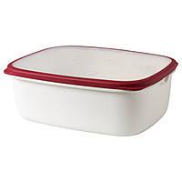 IKEA 365+ Контейнер, белый, красный