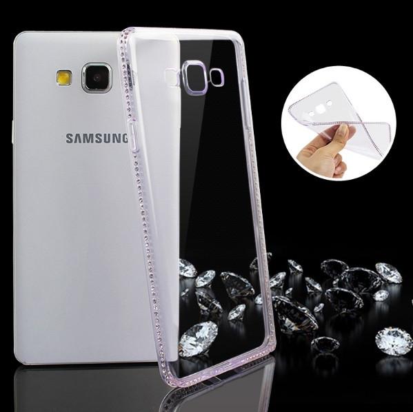Чехол для Samsung Galaxy A5 A500 силиконовый со стразами