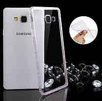 Чехол для Samsung Galaxy A5 A500 силиконовый со стразами, фото 1