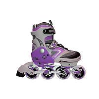 Раздвижные роликовые коньки для детей и для подростков zelart