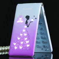 Раскладной телефон под Samsung Satrend D11 на 2 Sim блестит переливается