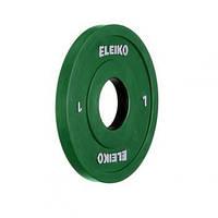 Олимпийский диск ELEIKO 1,0 кг для соревнований и тренировок, цветной