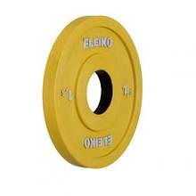 Олимпийский диск ELEIKO 1,5 кг для соревнований и тренировок, цветной