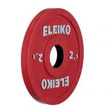 Олимпийский диск ELEIKO 2,5 кг для соревнований и тренировок, цветной