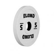 Олимпийский диск ELEIKO 5,0 кг для соревнований и тренировок, цветной