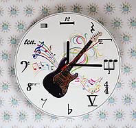 Часы настенные для кабинета музыки с гитарой