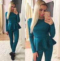 Женский стильный костюм: блузка + лосины (3 цвета)
