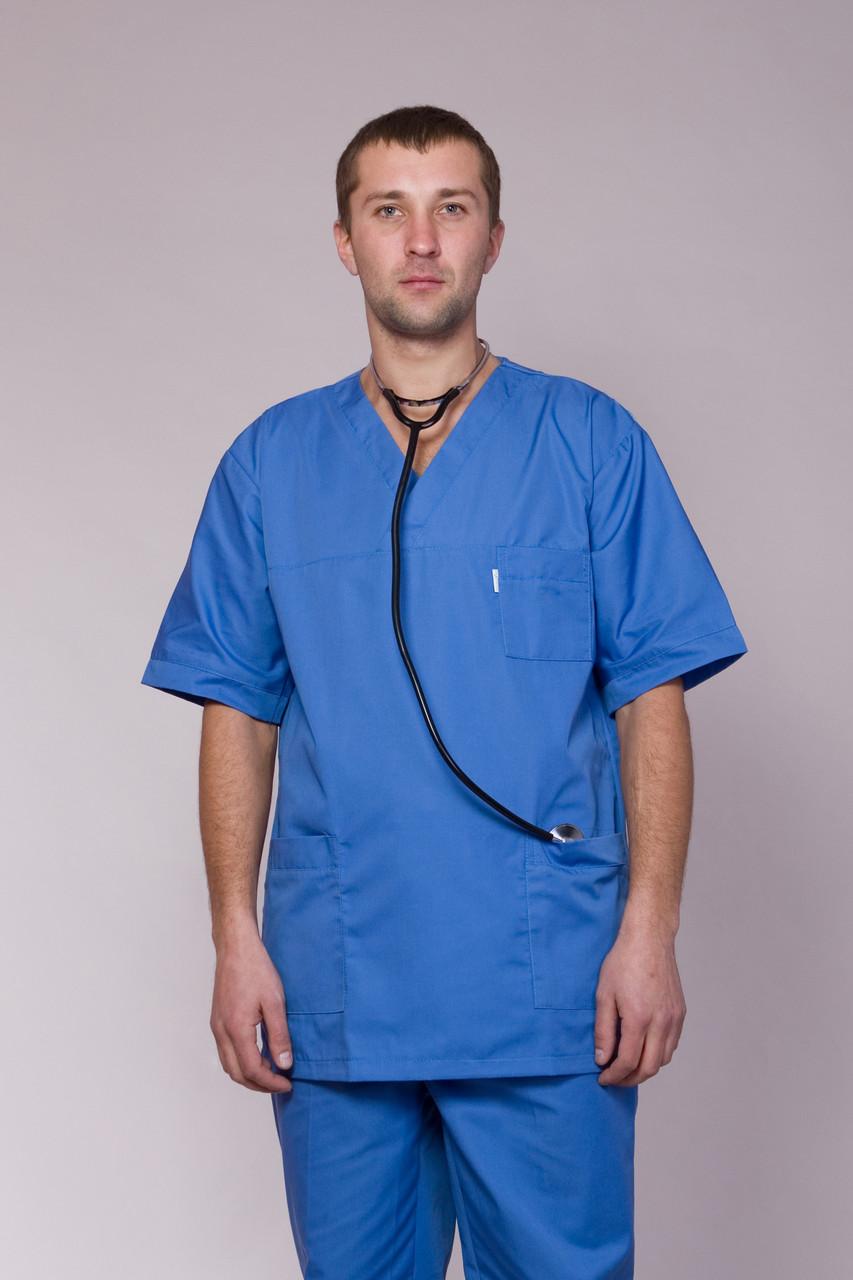 Хирургический костюм  голубого цвета