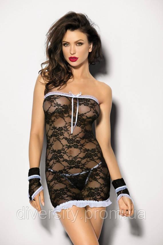 Сексуальная сорочка Aeris Angels Never Sin XXL, черный