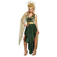 Женский карнавальный костюм платье Знойная медуза Горгона