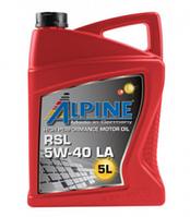 Моторное масло ALPINE 5W40 RSL LA 1L синтетика ( C3 , SN/CF , MB 229.51 , BMW-04 )