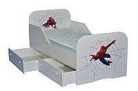 Детская кровать Стандарт  с цельным бортиком