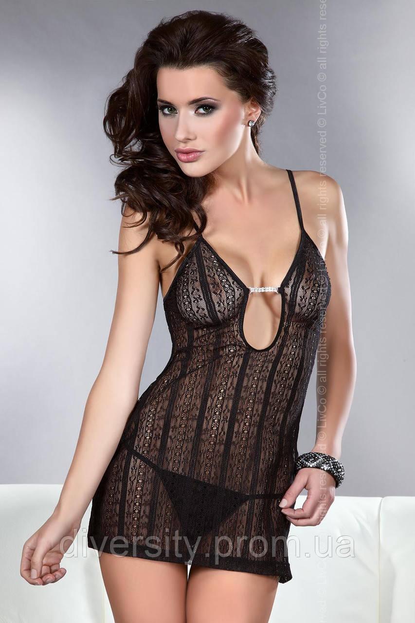 Эротическая ночная рубашка Conchita Livia Corsetti S/M, черный