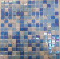 Голубая мозаика с перламутром Vivacer GLmix28