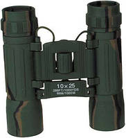 Бинокль 10x25 Ruby lens, лесной камуфляж, с чехлом MFH 34663T
