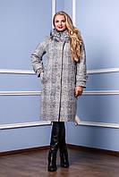 Пальто женское батал П-987 н/м Пальто зимнее больших размеров