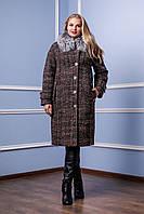 Пальто женское зимнее П-987 Пальто зима батал больших размеров