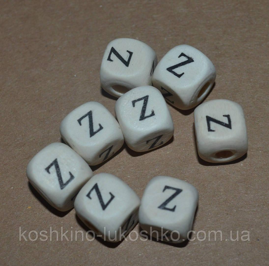 Бусина буква деревянная Z
