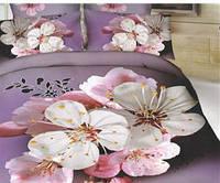 Комплект постельного белья 3 D Сирененевый фон
