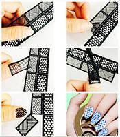 Трафарет для дизайна 1 полоска, 12 шт наклеек, фото 1