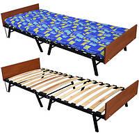 Розкладне ліжко-тумба на ламелях Кватро «Модерн» 190х80х30 див., фото 1