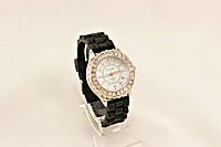 Женские часы CHANEL черные с камнями